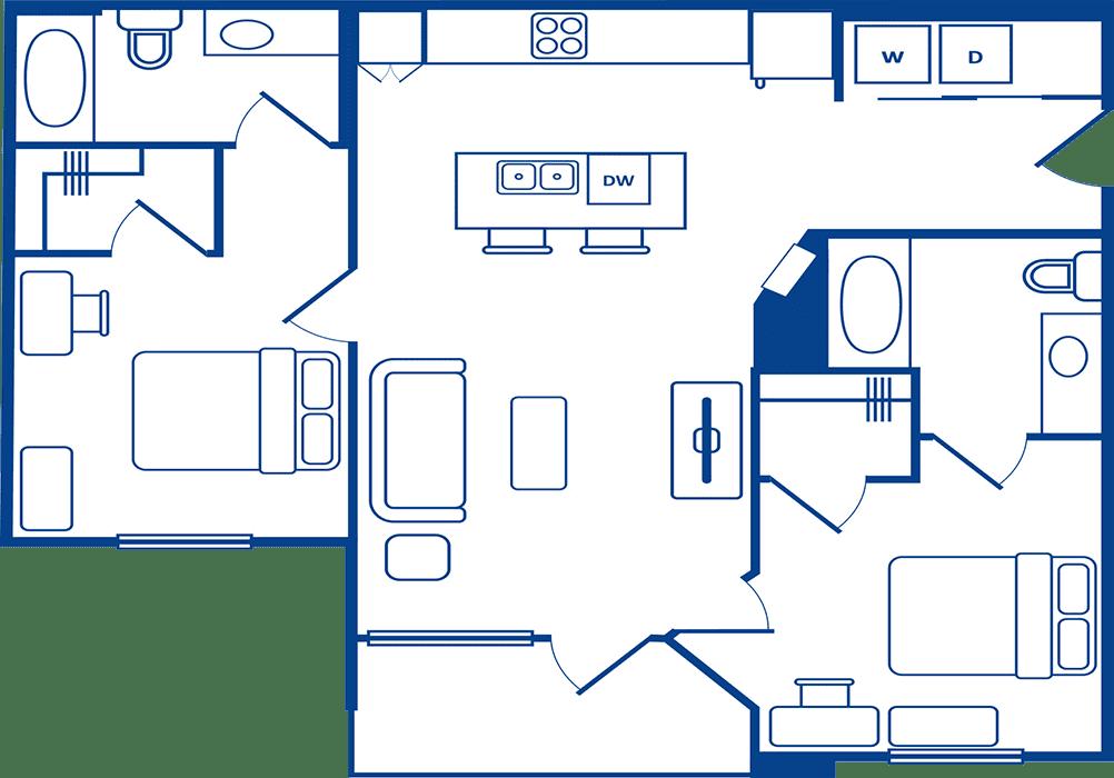 2 Bedroom Floorplan2